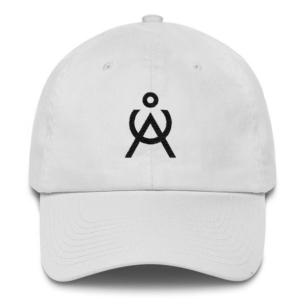 Angel Caller Logo White Unstructured Baseball Cap