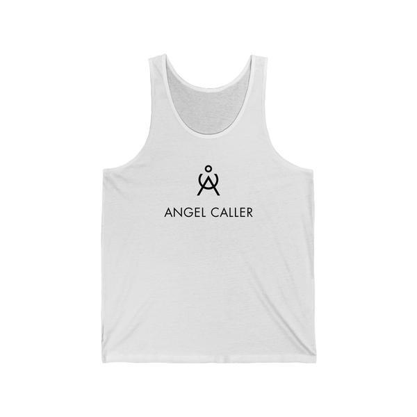 Angel Caller White Cotton Unisex Tank