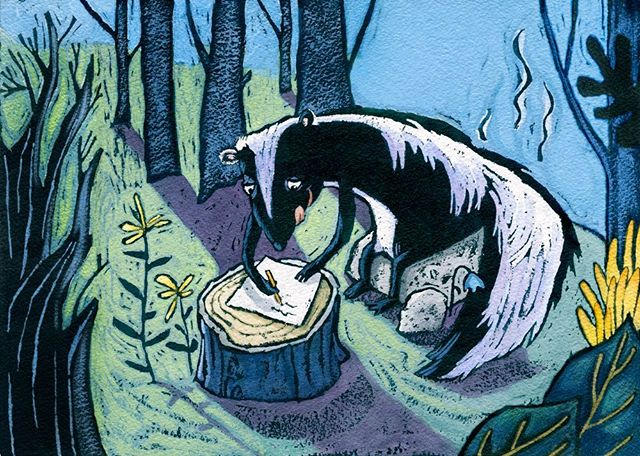 LOVE STINKS! Art from my picture book manuscript about Stinks, a love letter writing skunk and the confusion that arises from a missing comma. Love Stinks! . . . #skunks #loveisintheair #childrenspicturebook