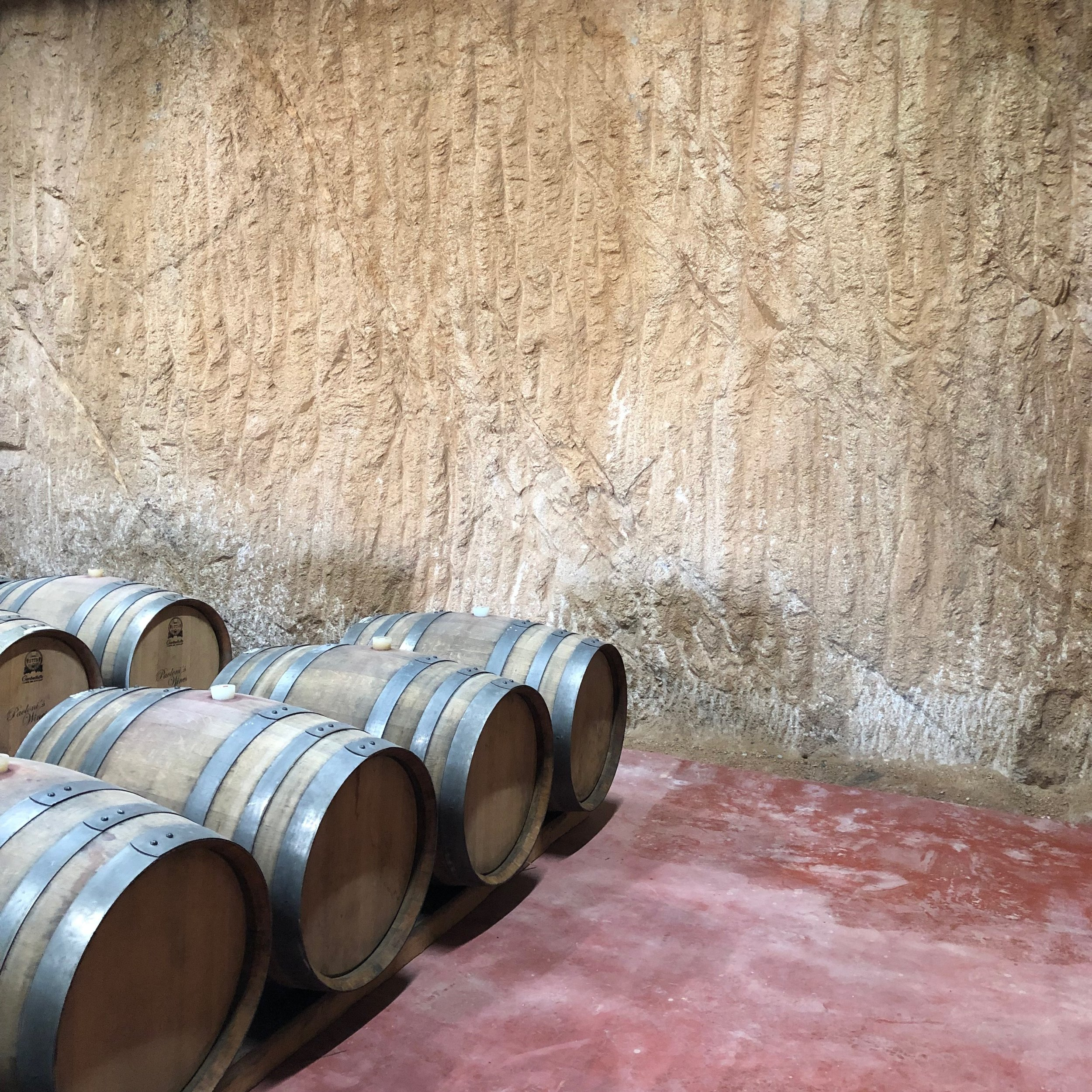 Barrel room at Villa Montefiori