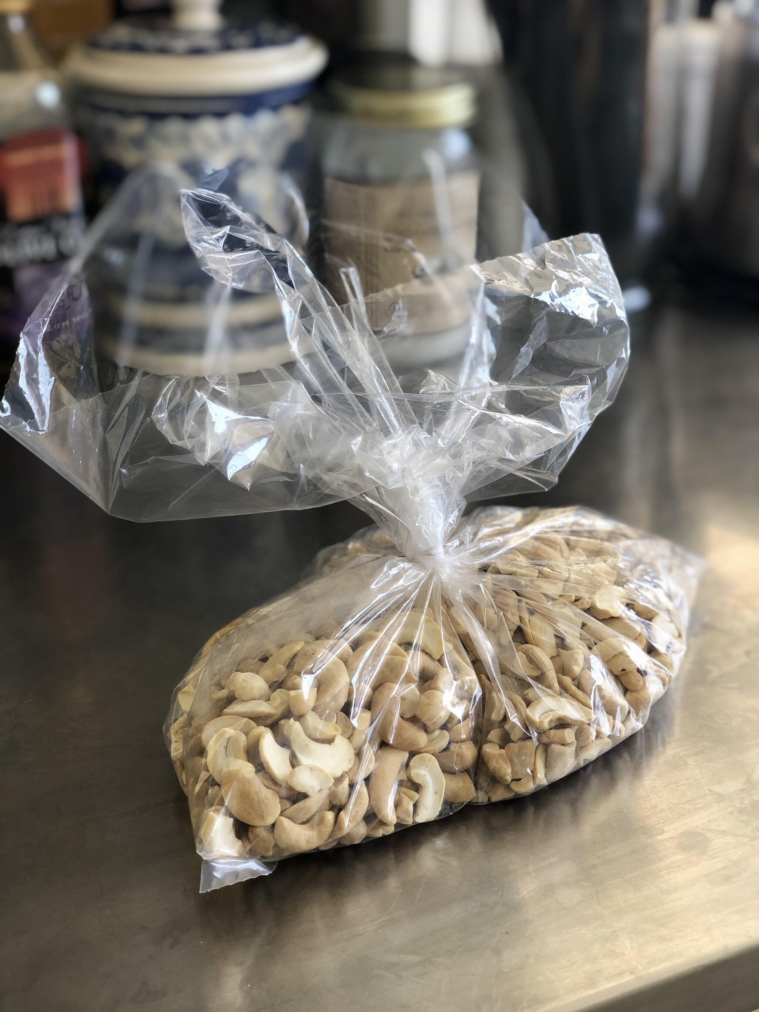Grab the cashews from our bulk section! This is one of my favorite nuts because cashews are a powerhouse of nutrition! They contain iron, magnesium, potassium, zinc and the good kind of fats :) oh, and protein!