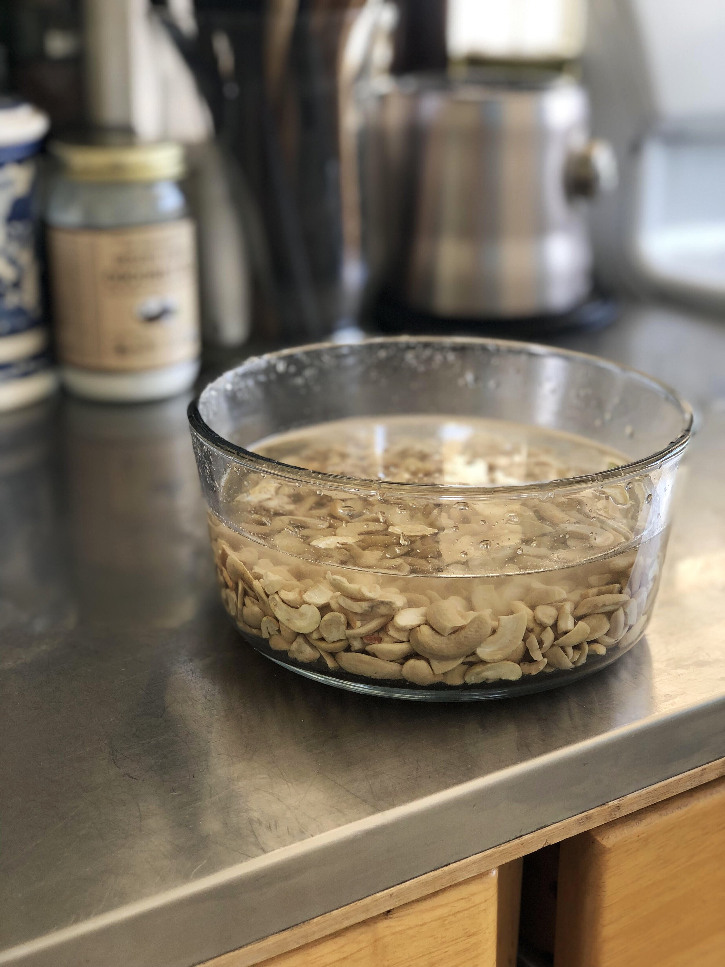 For best results, soak overnight. Or at least 4 hours (minimum). When you soak nuts, it helps release some beneficial enzymes and is easier to digest.