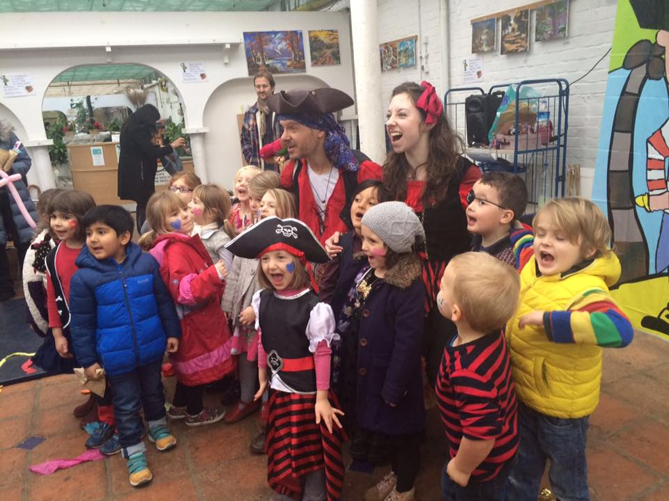 Captains Tom and Phoebe - strong pirate crew!