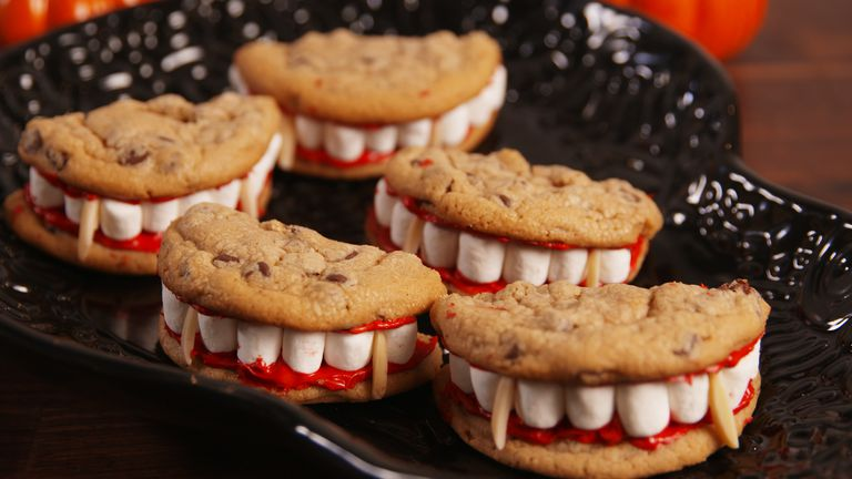 Vampire Cookies - These are easy, quick, delicious and spectacularly creepy!