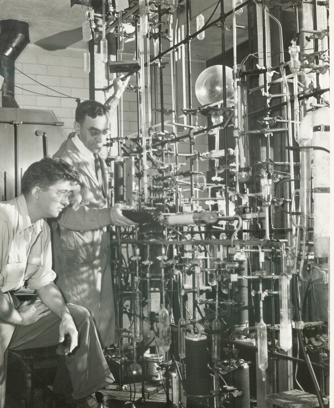 Image courtesy of Kristen Yarmey | Pennsylvania State University archives. (Featuring Joseph Simons, inventor of electrochemical fluorination, one method used by 3M to manufacture PFASs, including PFOA and PFOS beginning in the late 1940s.)