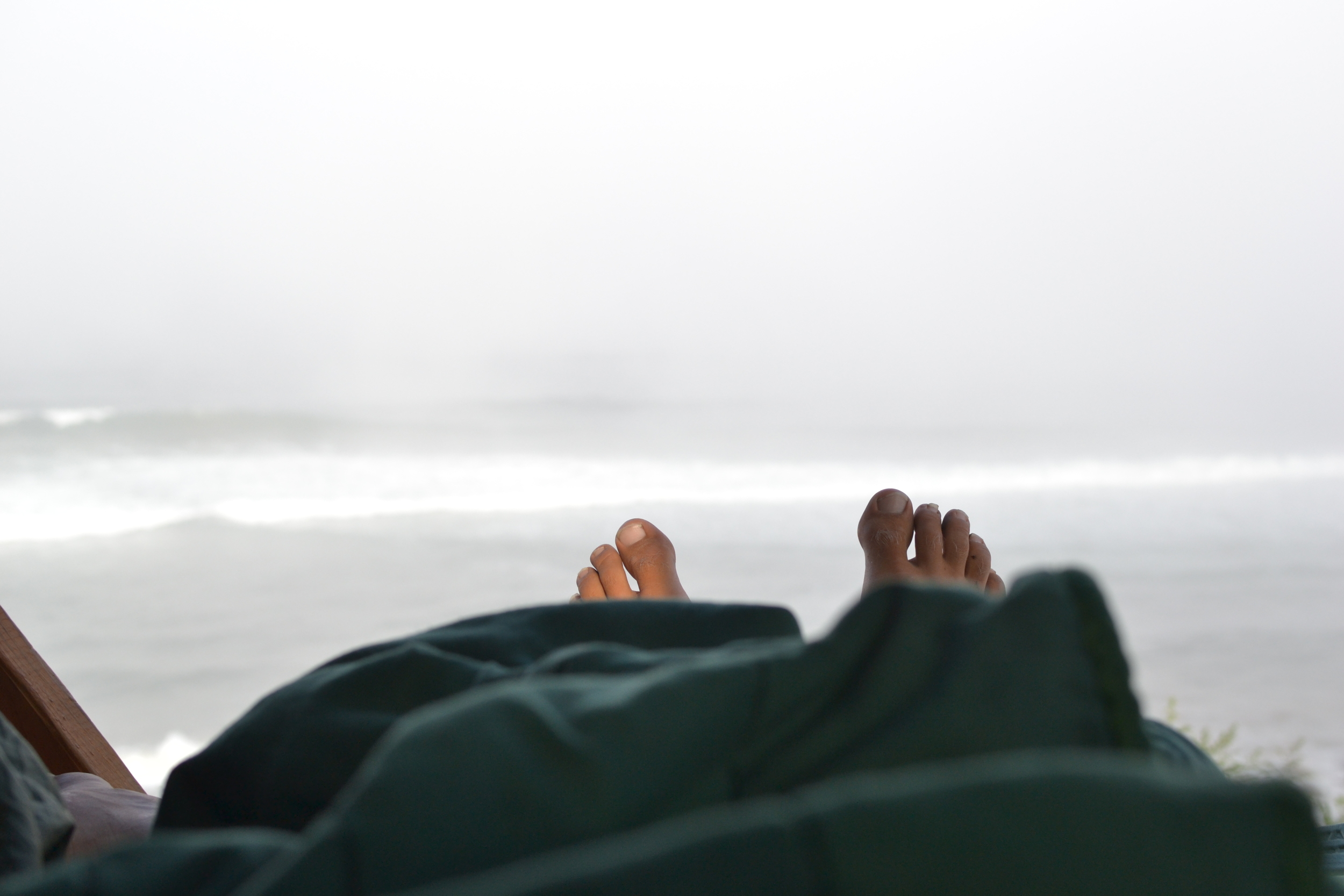 Waking up to the sound of the ocean.