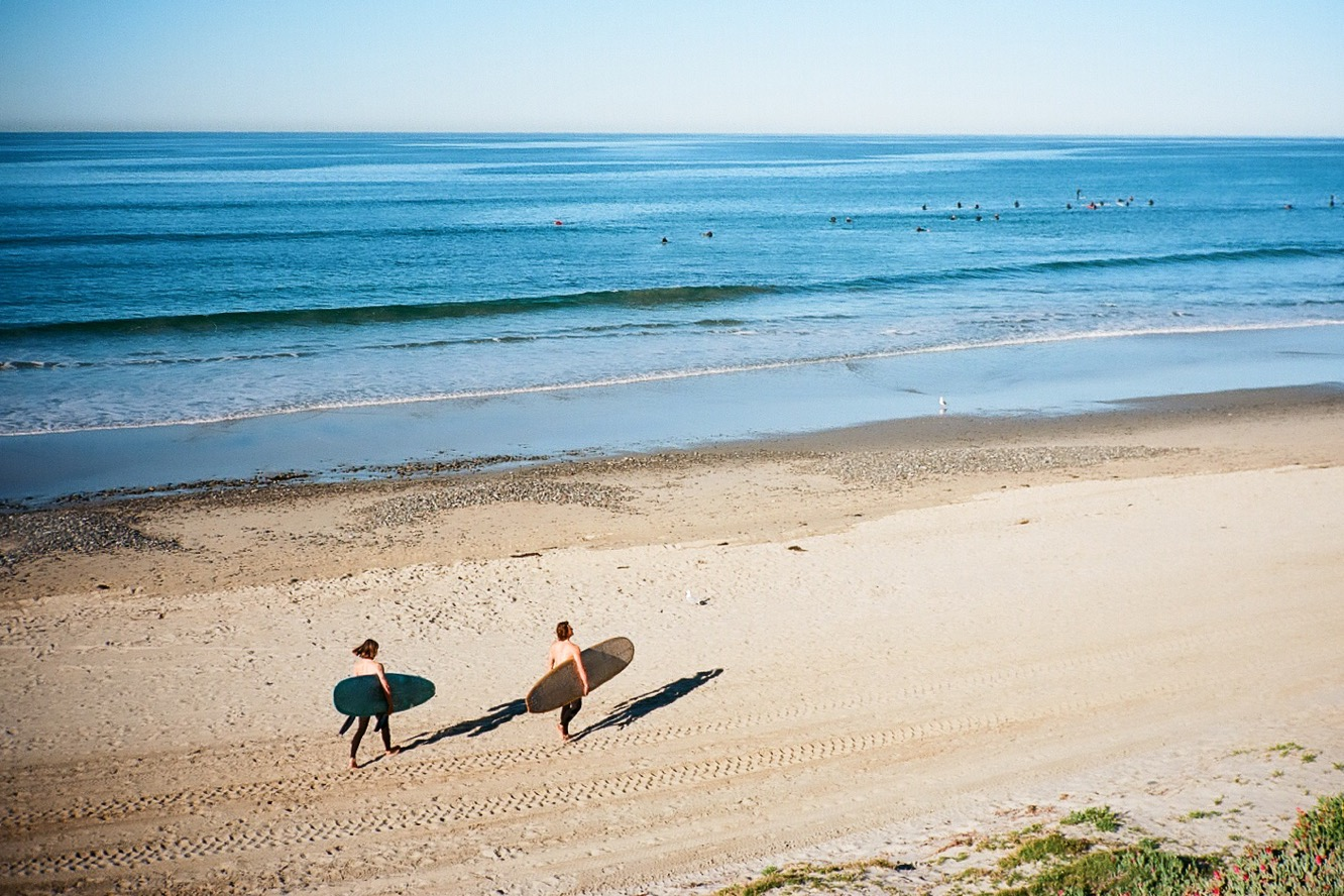 Dylan and Steve heading out on a small day. Shot by Frank Fina.