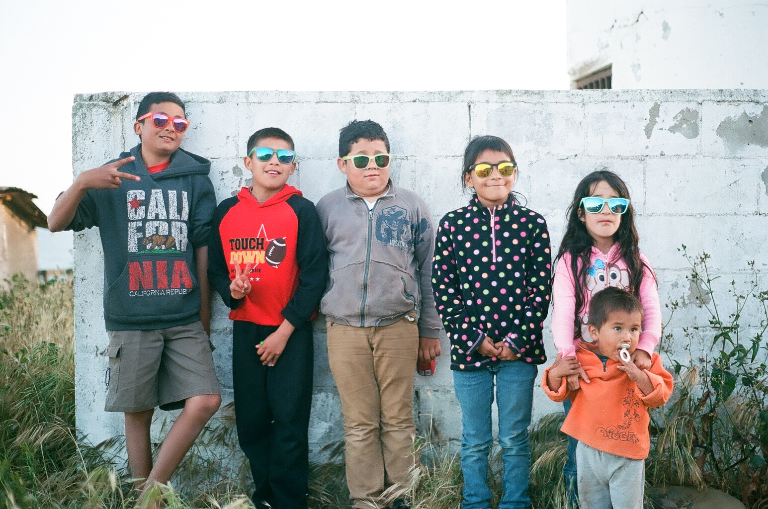 Local kids in their Nectar Sunglasses.