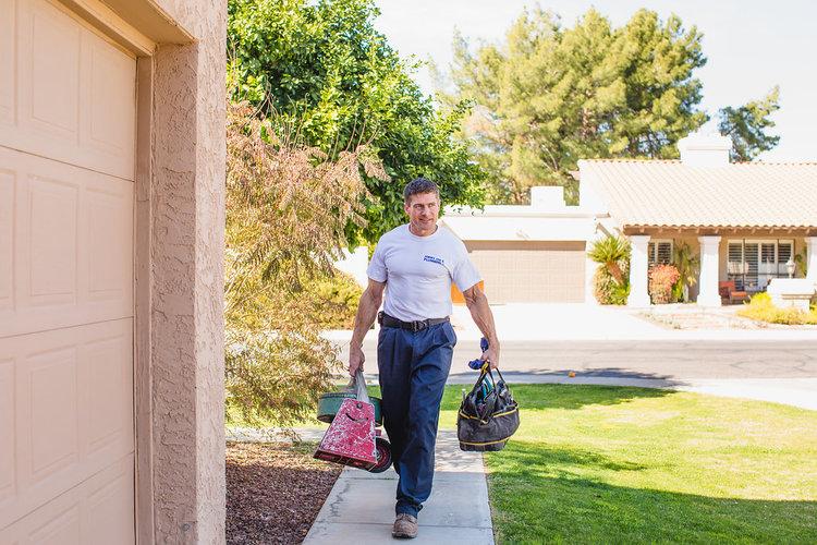 Jimmy Joe Philo Walking Into a Plumbing Job