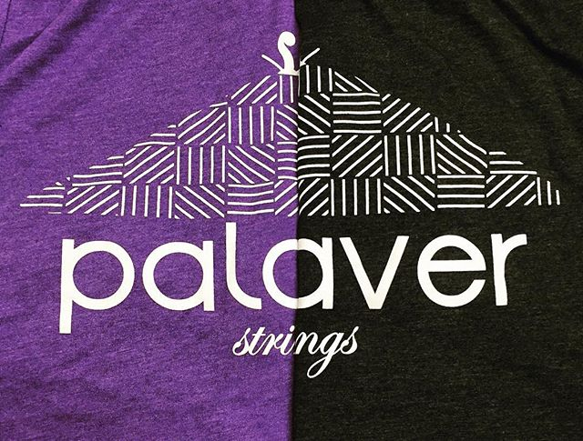 Daily Print :: Don't over complicate your designs. Palaver Strings gets it with a bold white print on Bella + Canvas Heather Ts. @palaverstrings @bellacanvas #BellaCanvas #SilkScreenPrinting