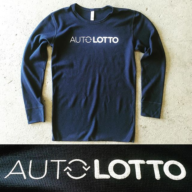 Daily Print :: As Powerball hits another record high, these Next Level Thermals for AutoLotto are a guaranteed winner. @autolottoapp  #NextLevelApparel #Startup #Swag #Powerball #SilkScreenPrinting