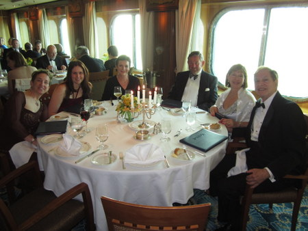 With some of my dining companions in the Britannia Restaurant on board the Queen Mary 2.