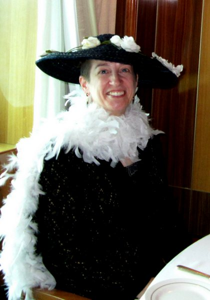 Dressed for the Ascot Ball aboard the Queen Mary 2, May 2011.