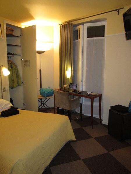 My room at the Hotel Quartier Latin, Paris.
