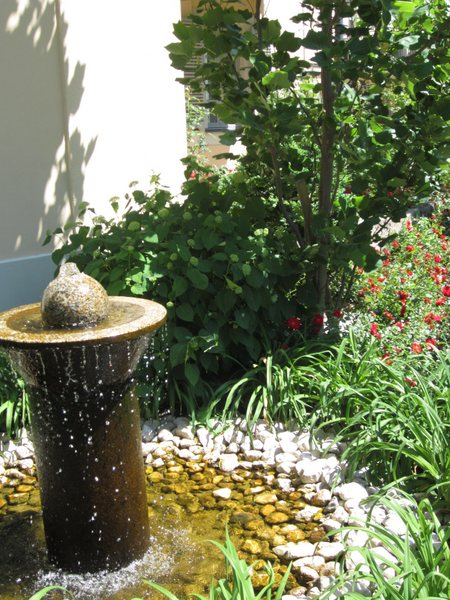 Fountain in the courtyard of my friend's apartment building in Dresden, Germany.