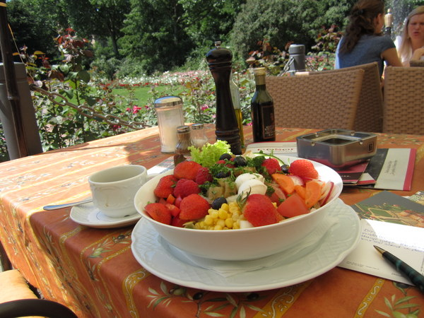 My salad at the Rose Cafe, Dresden, Germany.