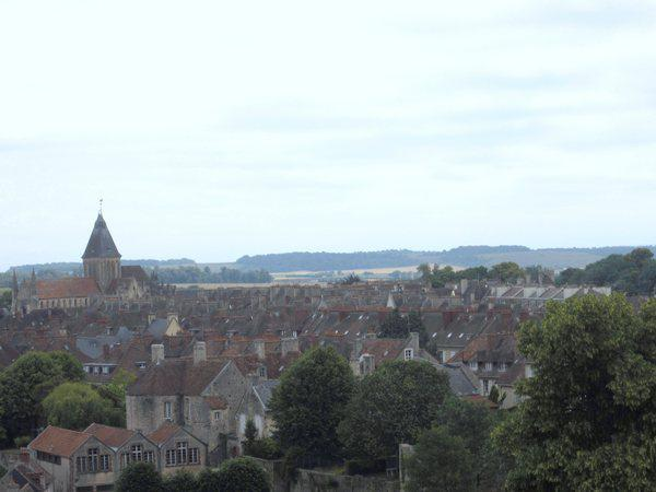 A view of Caen looking southeast from the walls of Caen's medieval fortress.