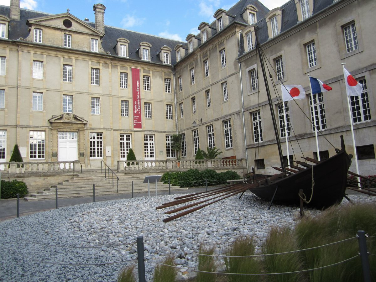 The entrance to the Bayeux Tapestry Museum in Normandy, France.