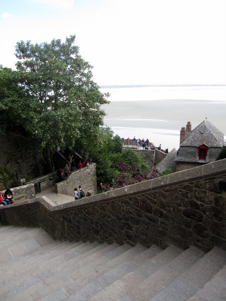 Steep stairs near the monks dormitory level where the original chapel was. This way up to the abbey!