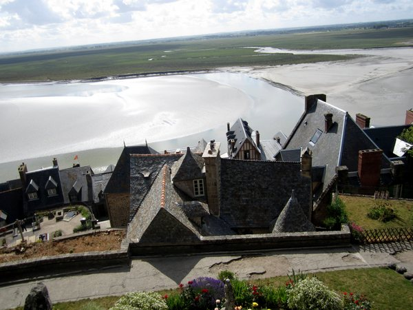 Some of the 50-odd residents of the island live in houses clustered at the foot of Mont Saint-Michel.