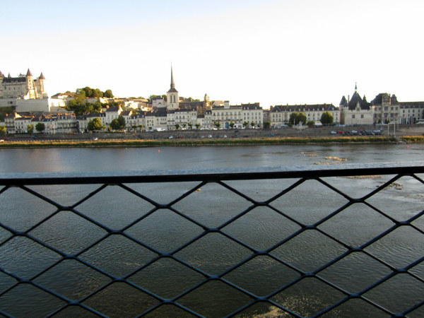 View from my balcony upon arriving mid-evening at the  Hotel Mecure Bords de Loire Saumur.