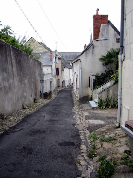 An empty street in the rain, Saumur France.