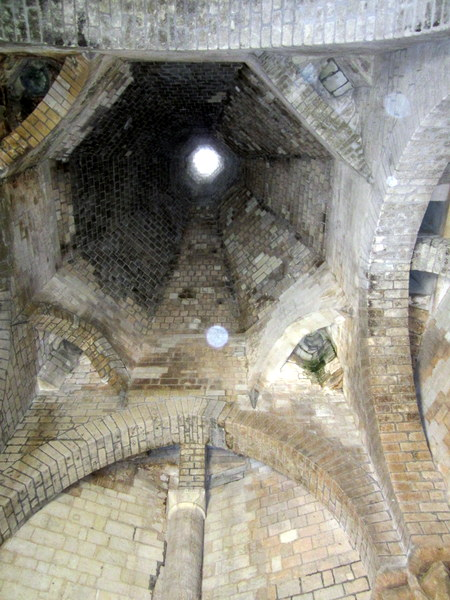 The chimney above one of the abbey ovens.