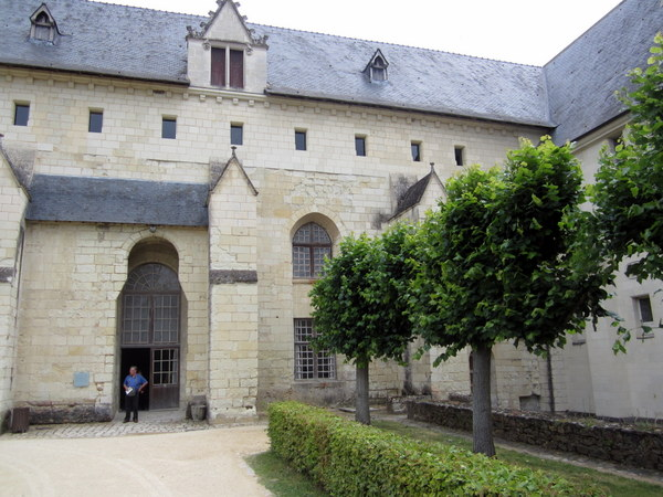 Entrance to the abbey refectory.