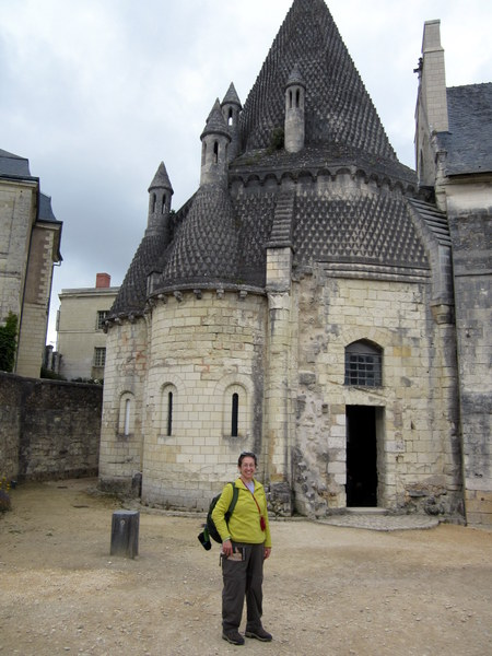 """The kitchens, called The Tour Evraud, at the Fontevraud Abbey. The """"pine cone"""" roof adds a distinct character to these 12th-century buildings, which were renovated in the early 20th century."""