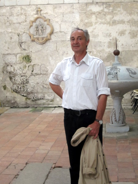 My tour guide for the Abbey at Fontevraud, Mr. Pierre Romanet, who then drove me to several other sights, including a wine cave for a wine tasting.