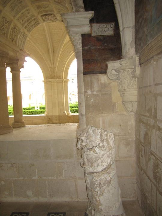 Beheaded statuary everywhere at the abbey. Relic of the Wars of Religion.