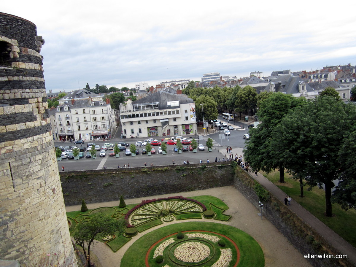 View of the city from the ramparts of the Chateau d'Angers.