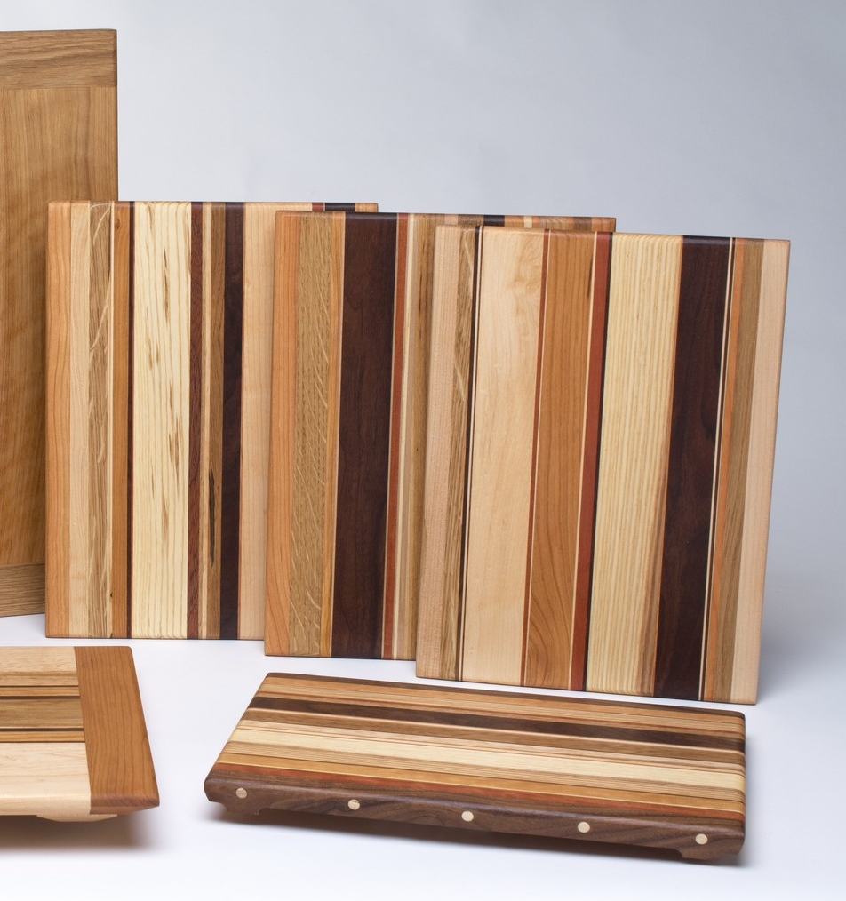 All are different and feature a wide variety of hardwoods in varying widths from as slim as 1/32 of an inch