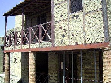 House of Opus Craticium excavated from the ruins of Vesuvius cir. 79 AD.