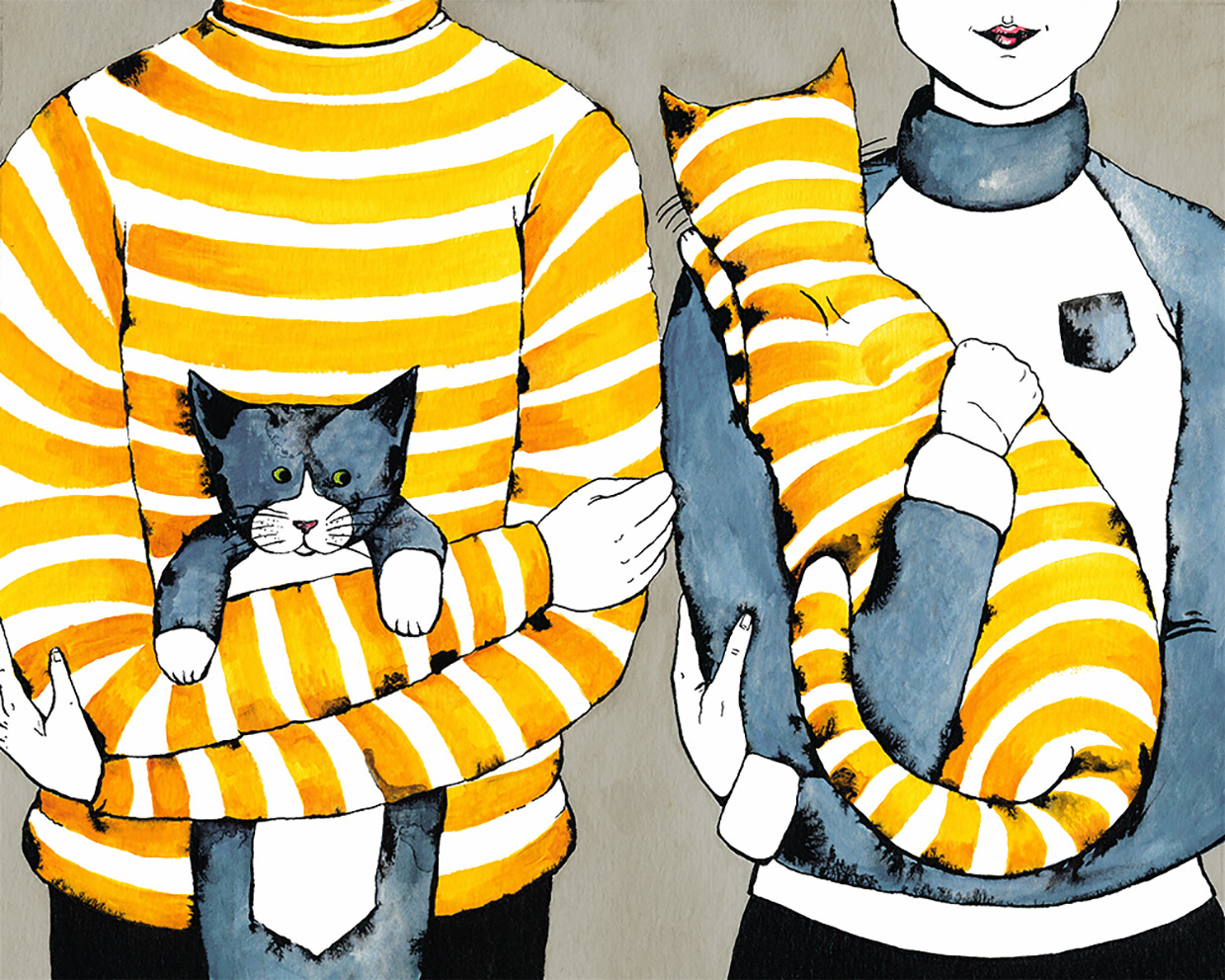 Sweater Opposites (Family Portrait)