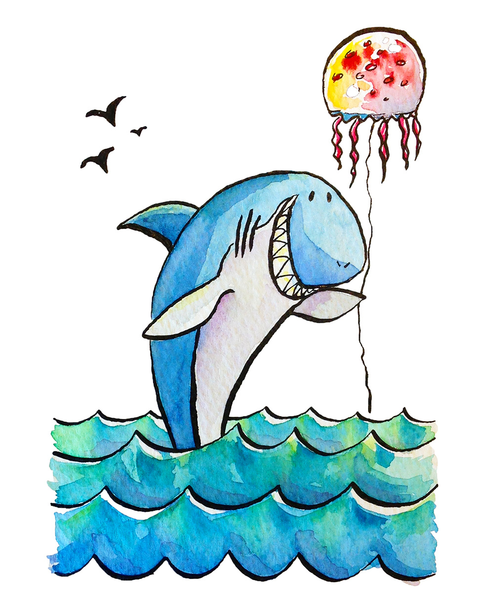 Shark and Jelly Balloon