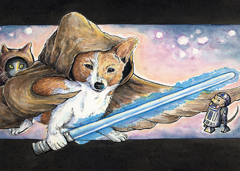 Jedi Corgi