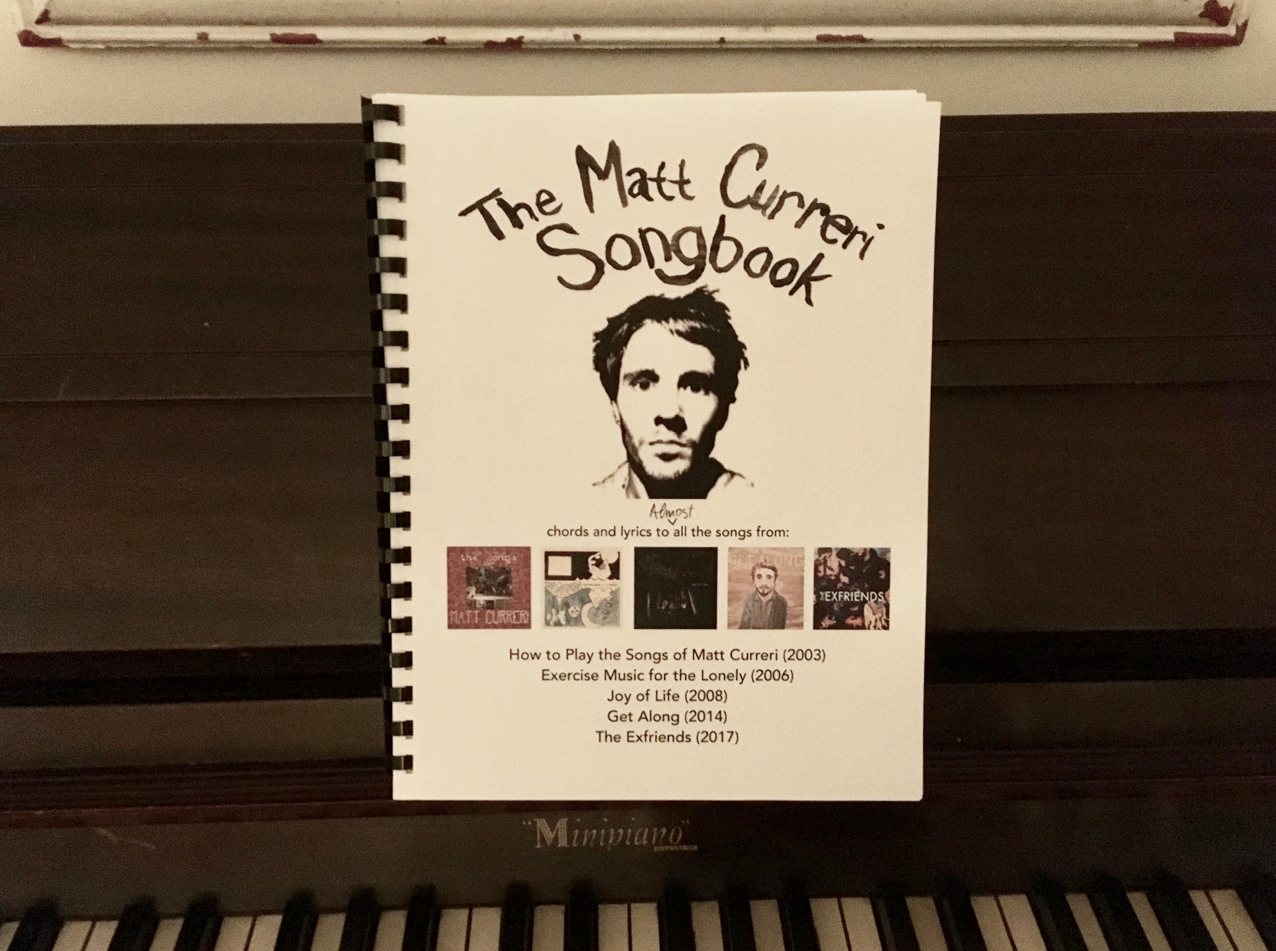 Click to Order. - Contains chords and lyrics to (almost) all the songs (minus a couple early instrumentals) from Matt's last five albums.5 Albums, 64 Songs, 101 pages. Hand printed, bound, and signed by Matt in a limited run of 25.$19.99 includes shipping within the US.  Options available for international shipping.