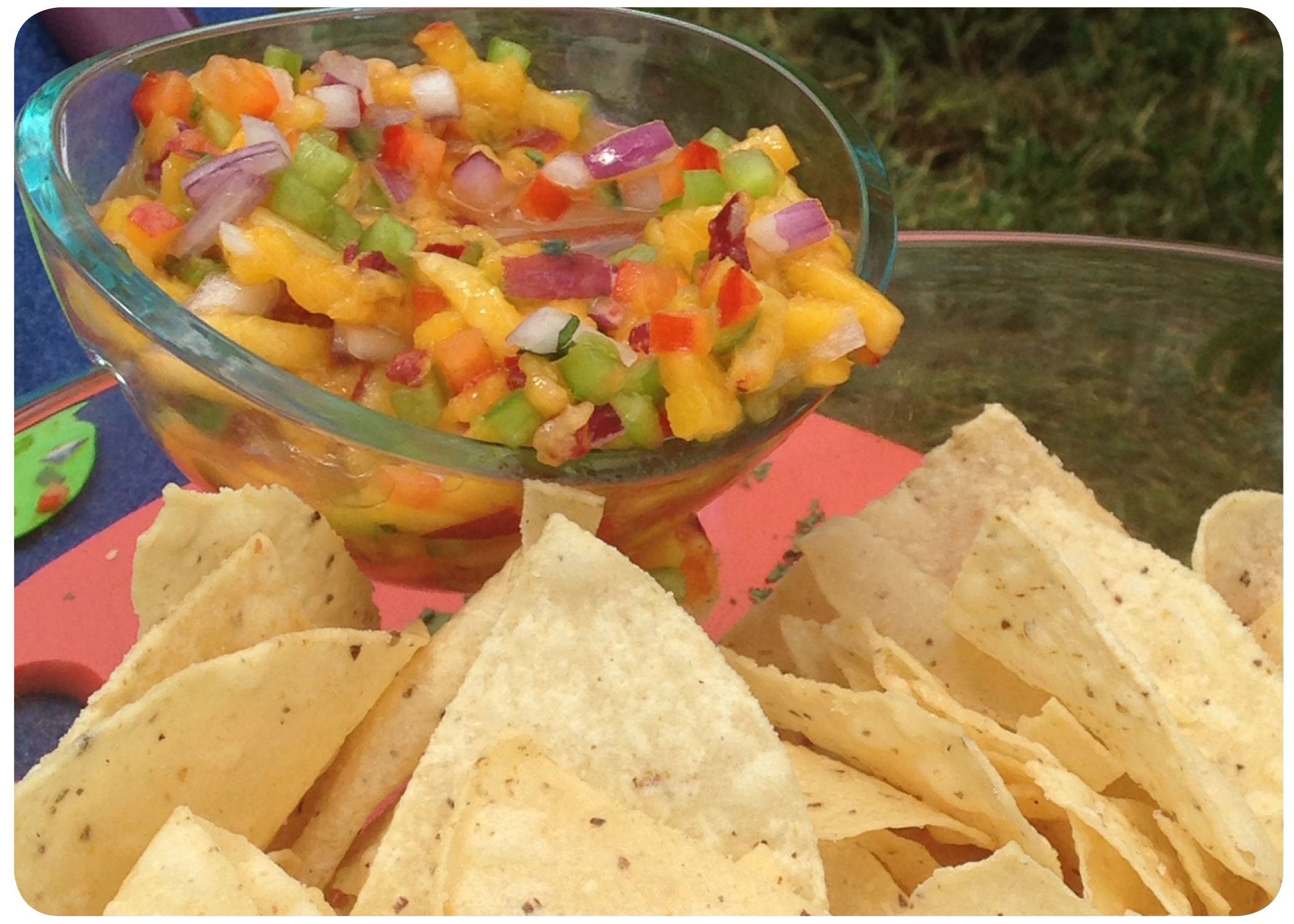 Peach Salsa and Chips