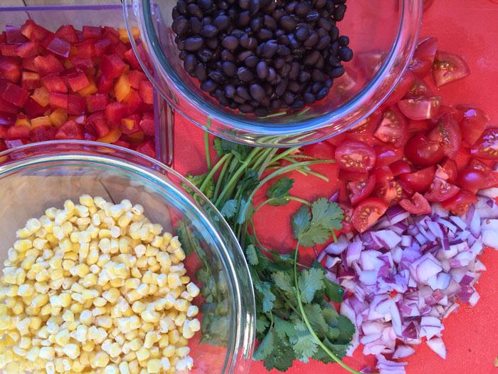 Mexican Quinoa Ingredients
