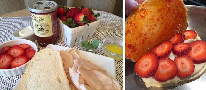 Strawberry Panini Ingredients