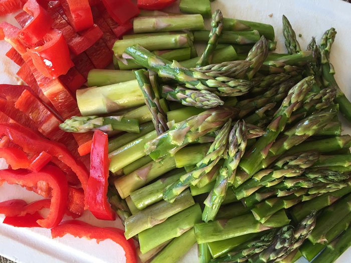 fresh cut veggies
