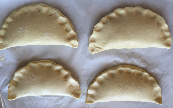 Peach Pie Pockets - Ready for the Oven