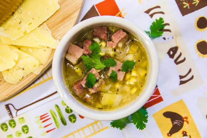 Summer Corn & Ham Soup