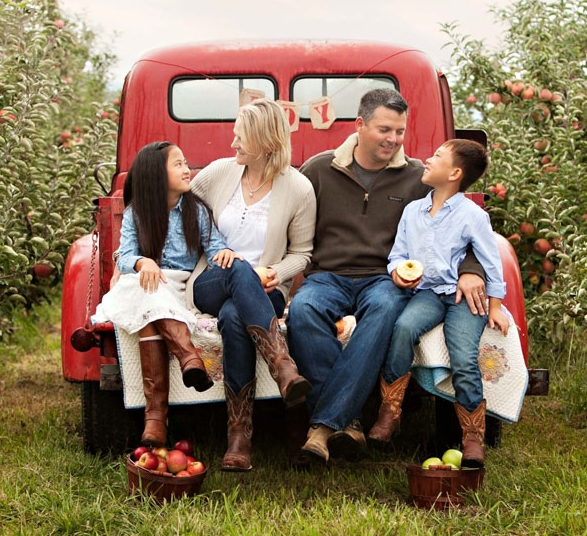Pictured above is Chris & Angie Eckert along with their two children. Chris is part of the 7th generation to own & operate his family's business.