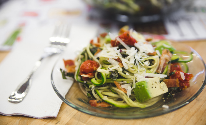 Eckert's Zucchini Noodle Pasta with Tomatoes, Kale, Bacon and Avocado.jpg