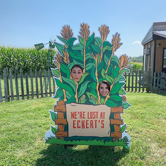 Are you planning to get lost in our 12-acre @stlouisblues themed Corn Maze this weekend at our Millstadt Farm like @danadeanksdk & @courtneybtv did?!?