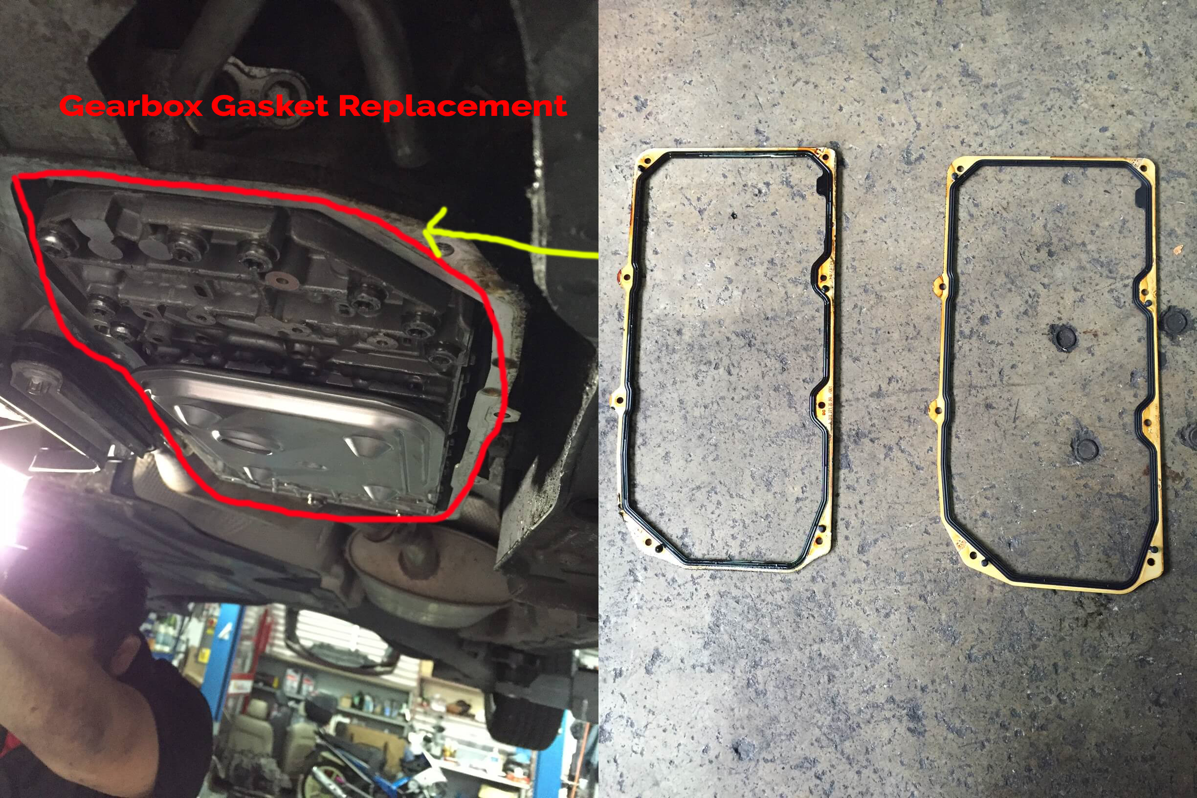 Gearbox gasket replacement mercedes