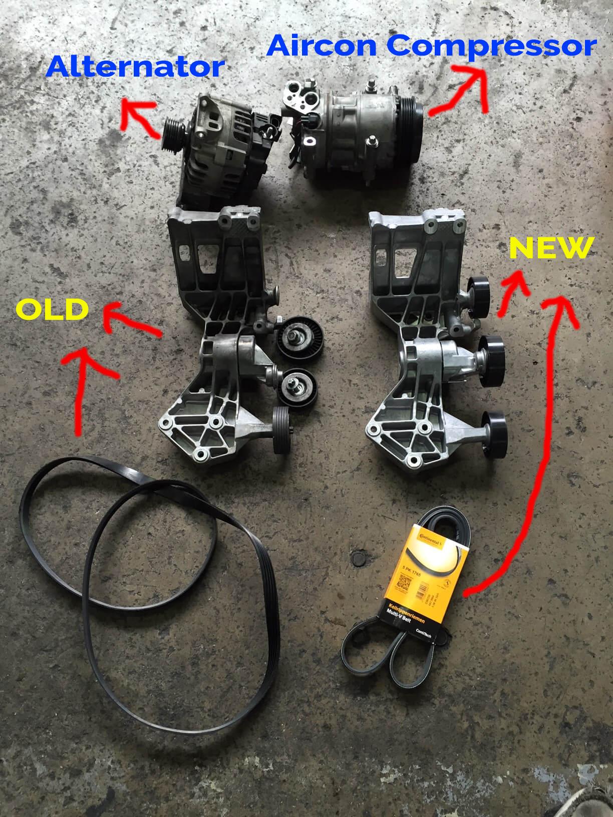 Fan belt replacement mercedes
