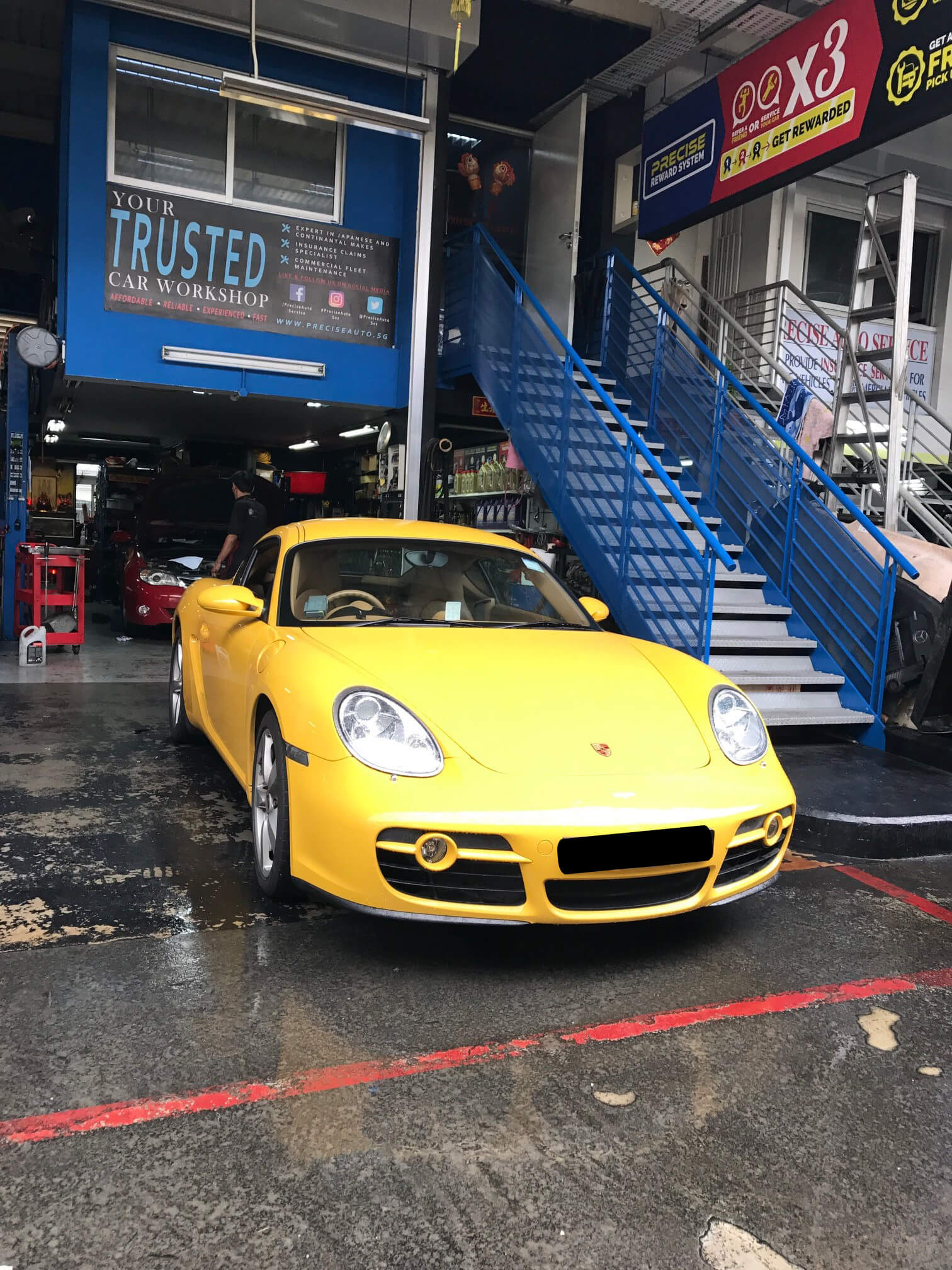 porsche cayman car repair